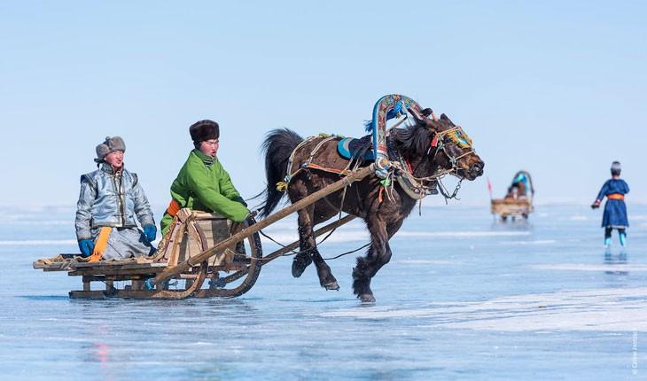 فستیوال باشکوه یخ در مغولستان