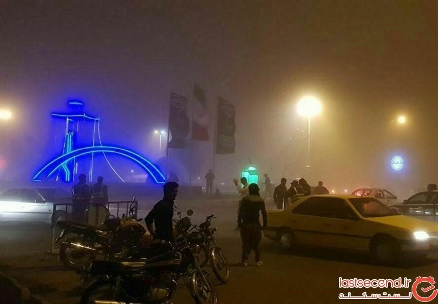 طوفان شدید و گردوغبار در مرز مهران