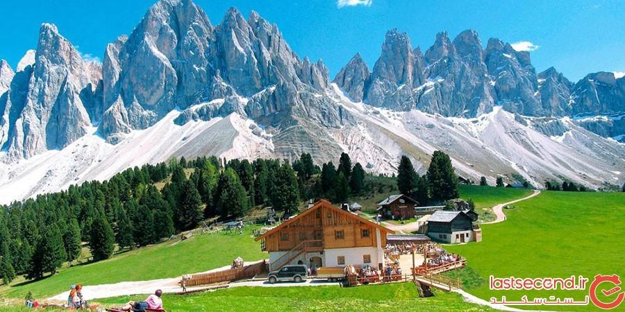 کوهستان دولومیت در ایتالیا