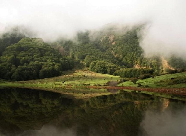دریاچه ویستان، همنشینی خورشید و مه در رودبار