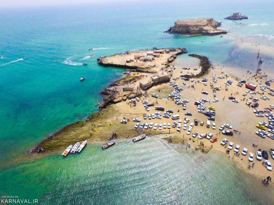 جزایر ناز قشم، اعجاز قدم برداشتن روی دریا