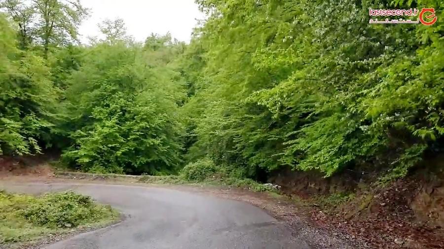 در پیچ و خم جاده ی زیبای روستای بلیران