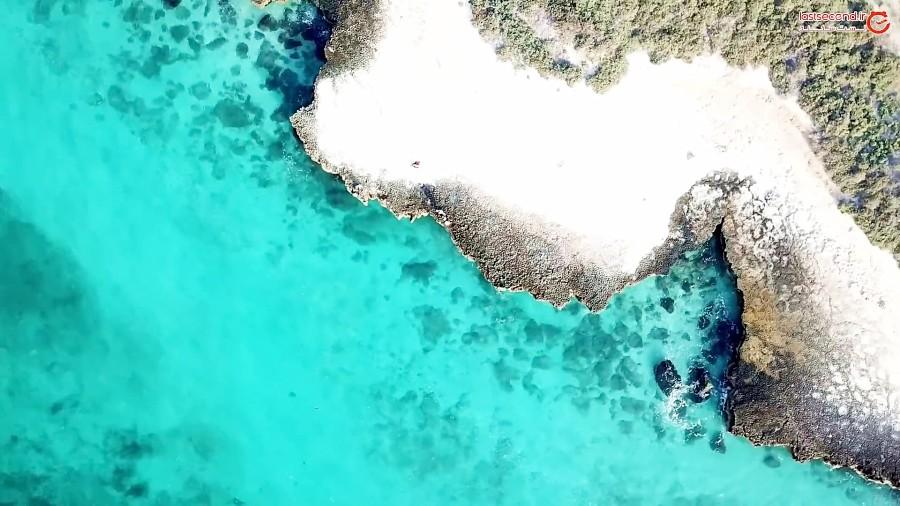 جزیره مارو و ساحل زیبای آن