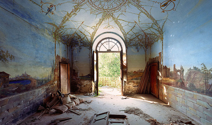 گزارشی تصویری از شکوه از دست رفتهی کاخهای متروکهی ایتالیا