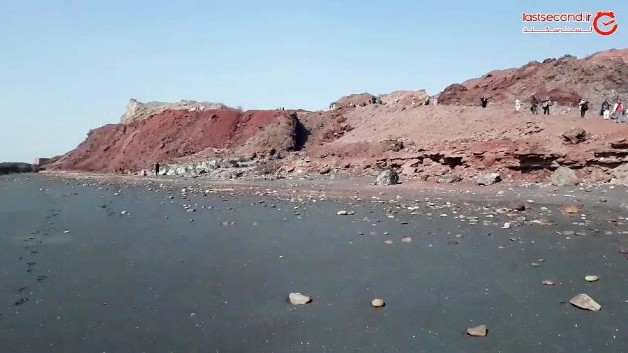 خاک سرخ و ساحل نقره ای جزیره هرمز