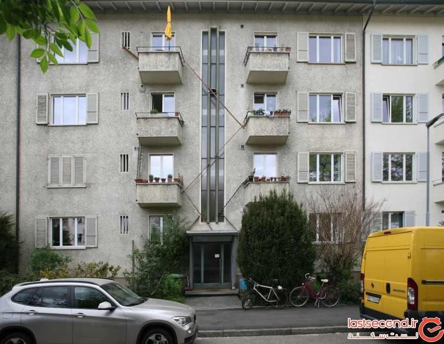 ساختمانهایی در سوئیس که نردبان مخصوص عبور گربه دارند