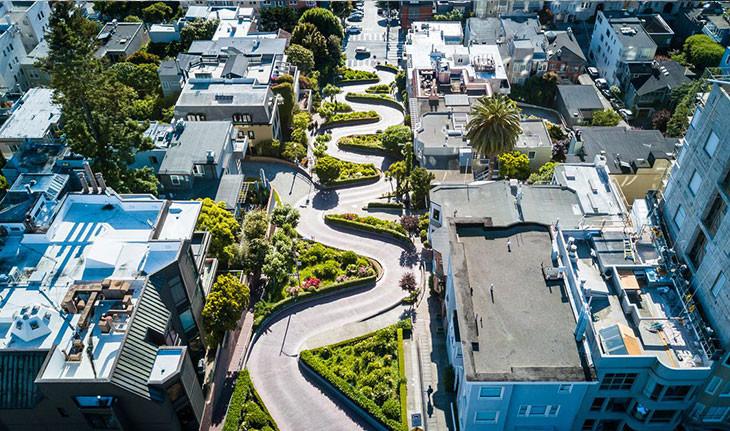 خیابان لومبارد: شاخصِ شهریِ پیچ در پیچ و معروف سان فرانسیسکو