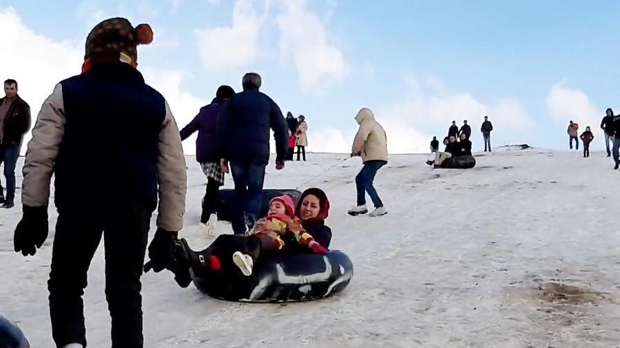 تفرجگاه بند ارومیه، یک عصر جمعه زمستانی