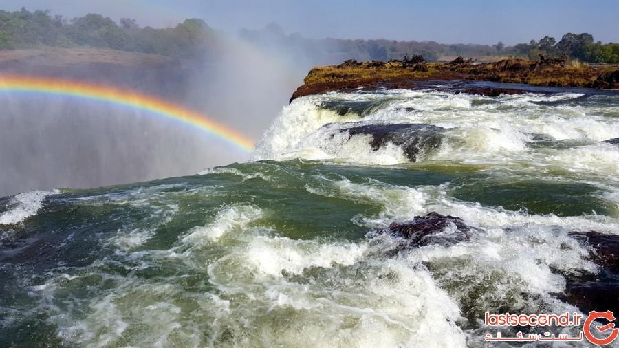 آبشار ویکتوریا در زامبیا