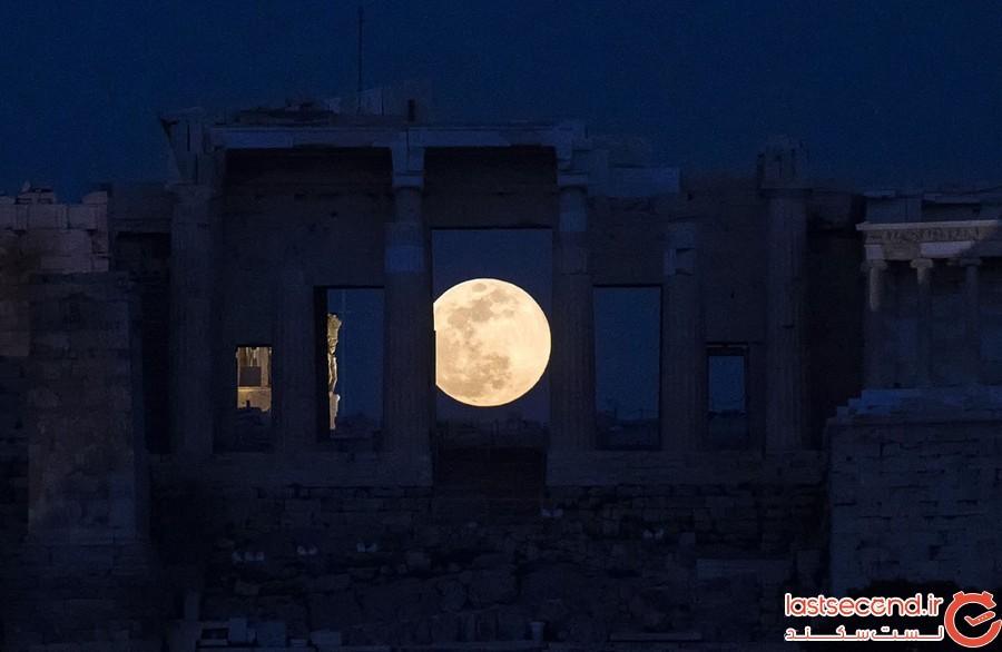 تصاویری فوق العاده از ماه