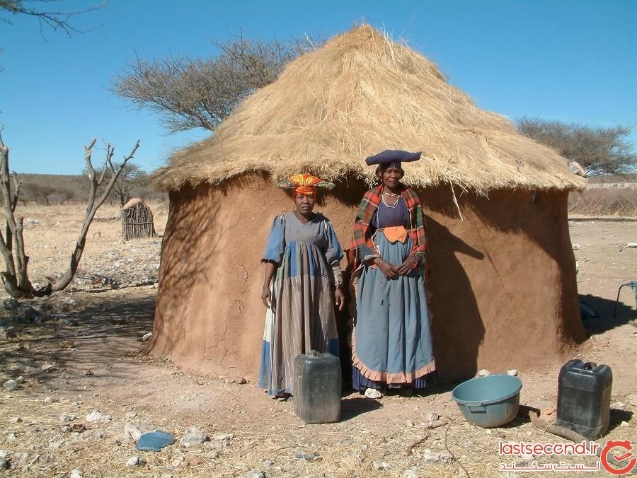 گله Himba ، نامیبیا