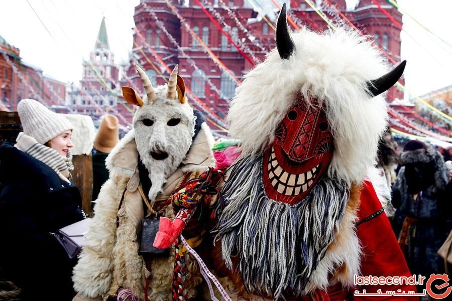 مراسمی باستانی برای جشن پایان زمستان