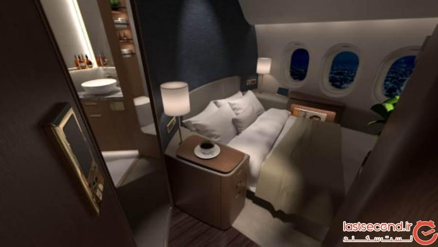 از عجیب ترین طراحی داخلی فضای هواپیما رونمایی شد