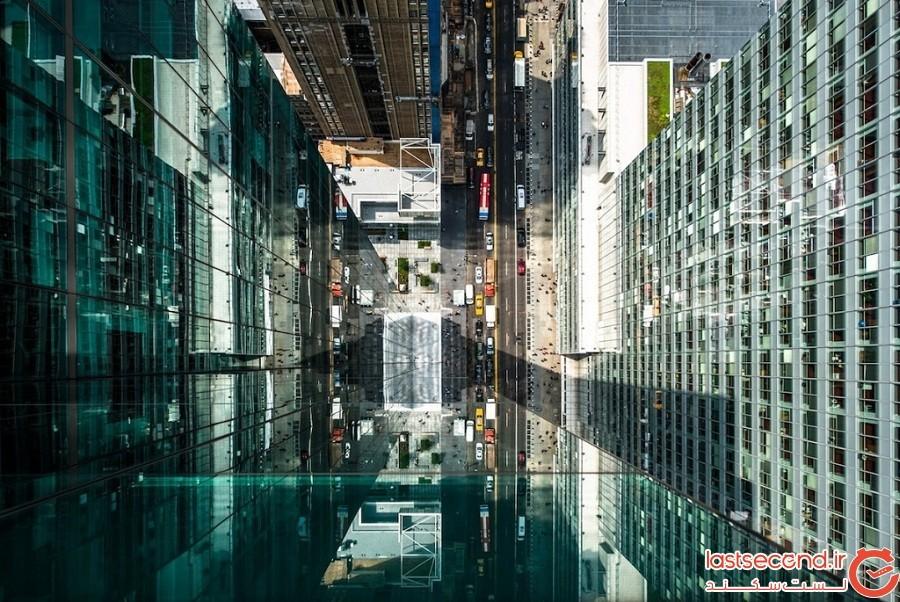یک عکاس در انعکاس آسمانخراشهای شهر نیویورک «شهری پنهان» کشف میکند