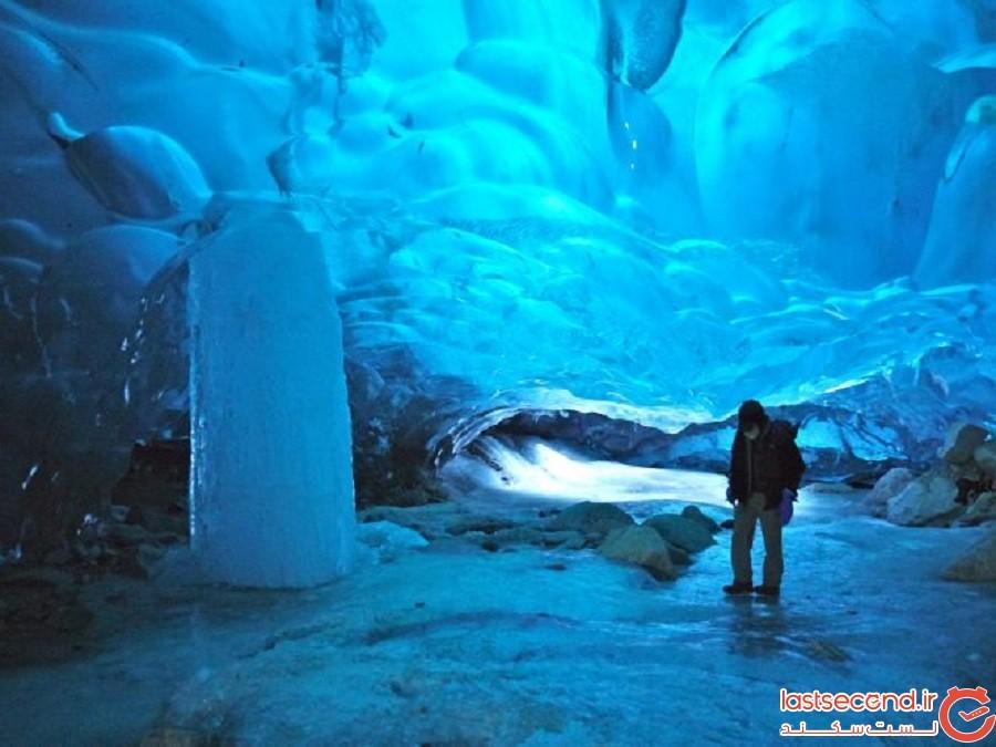 غارهای یخی مندنهال (جونیو، آلاسکا)