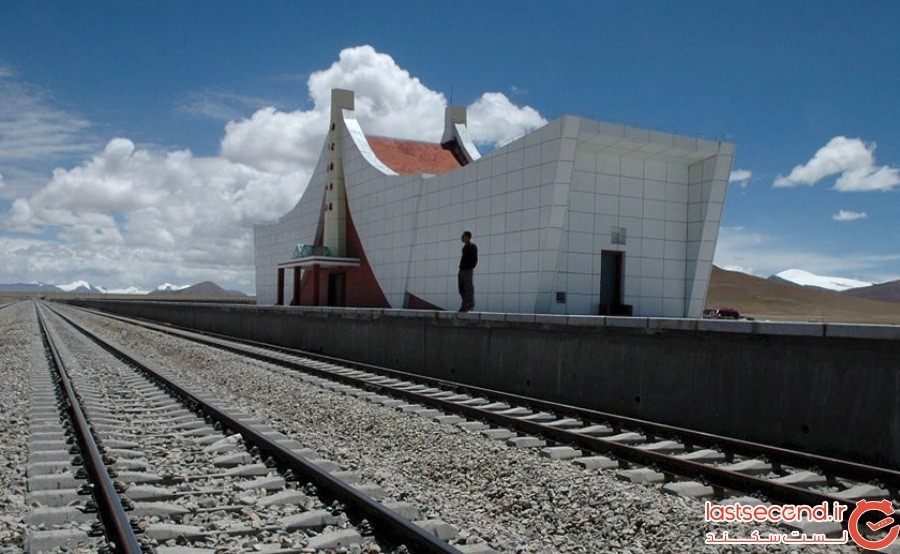 ایستگاه خط آهن کوهستان تانگولا (Tanggula Mountain Railway Station) - تبت