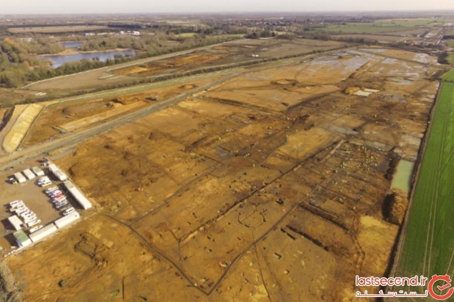 یک شهر باستانی دستنخورده رومی در زیر یک اتوبان در انگلستان کشف شد
