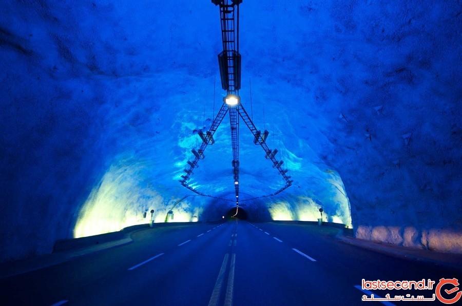 طولانیترین و عمیقترین جاده تونلی در جهان