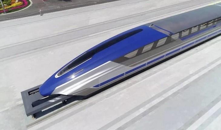 پردهبرداری چین از نمونه اولیه قطار مغناطیسی تندرو