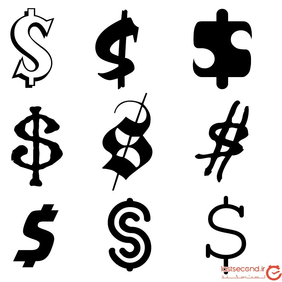 علامت دلار به چه برمیگردد؟
