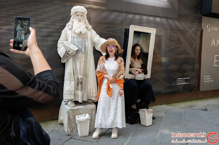 ببینید! لئوناردو داوینچی هنوز در بعضی از خیابانهای دنیا قدم میزند!