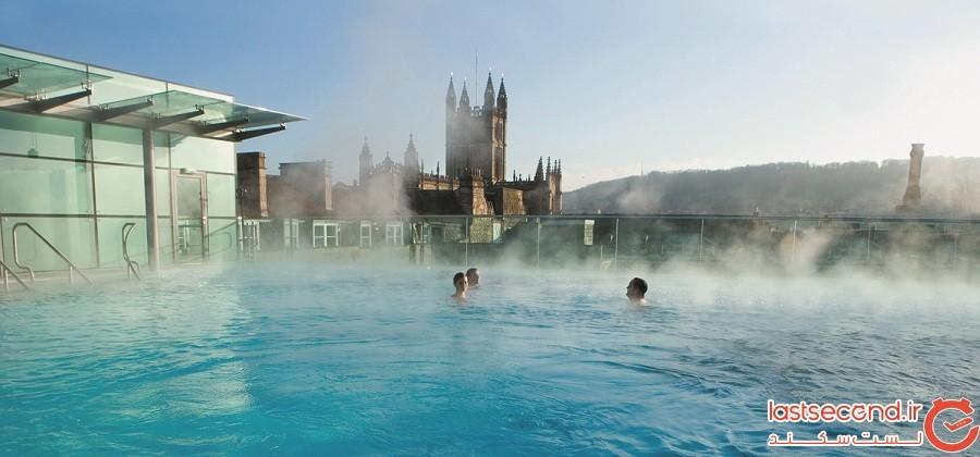 حمام آبگرم حرارتی Thermae-Bath-Spa، شهر بَث، کشور انگلیس