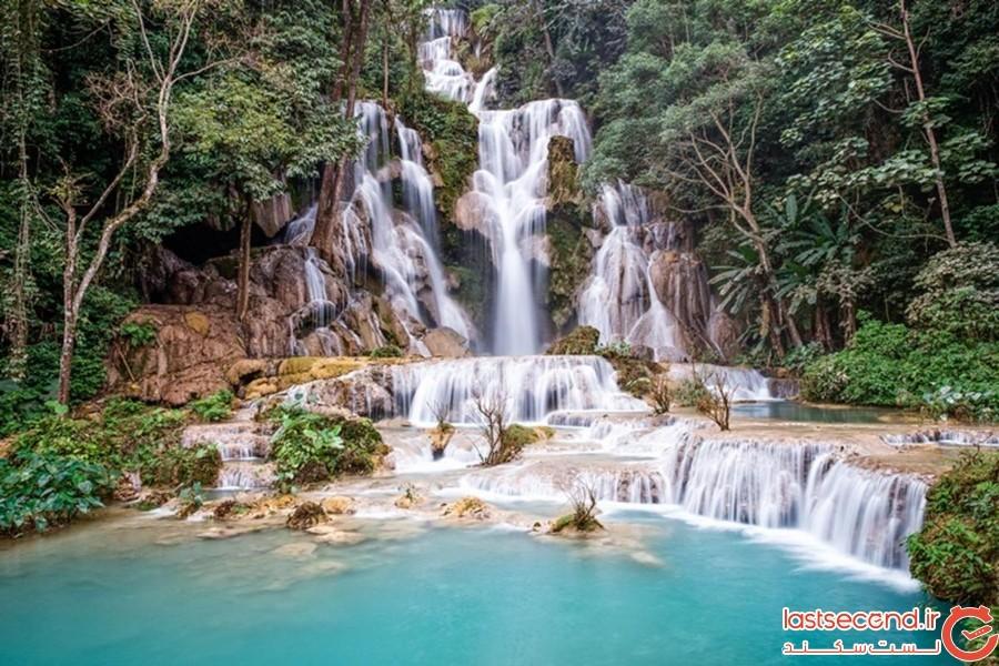 آبشار کوانگ در لائوس