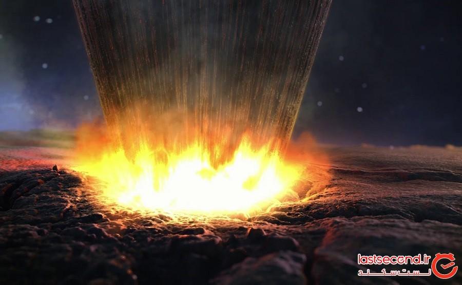 دانشمندان نقاشی های 8000 ساله را در داخل دهانه 2 میلیارد ساله شهاب سنگ پیدا کرده اند!
