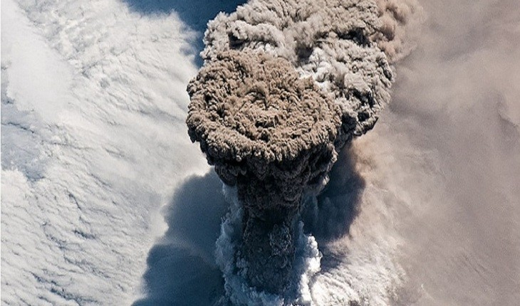 تصویر آتش فشانی که پس از 95 سال فوران کرد، توسط ناسا ثبت شد