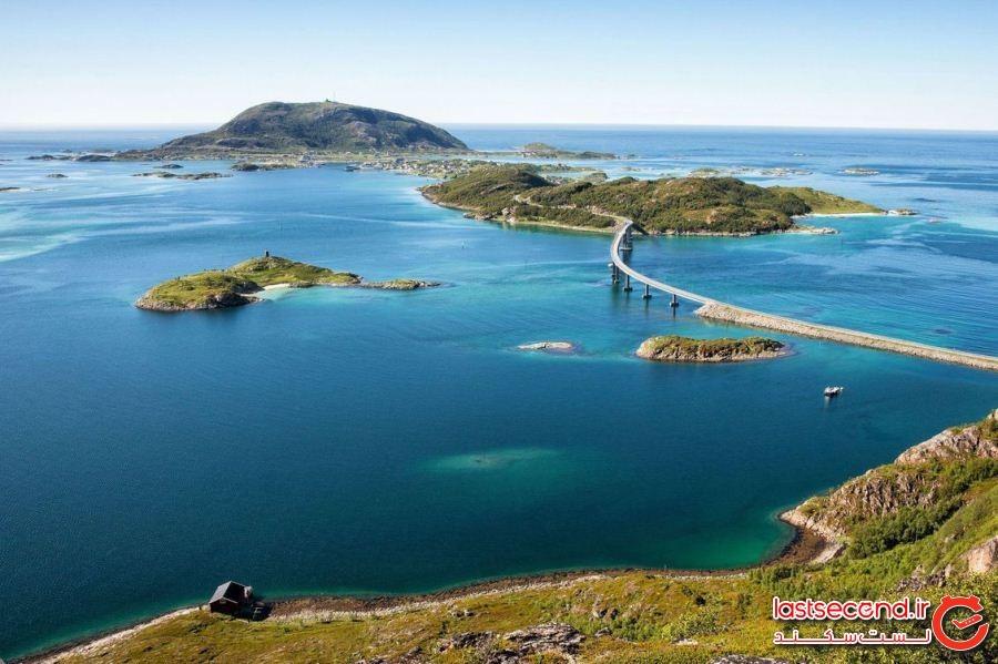 جزیره ای در نروژ که 69 روز تمام خورشید در آن غروب نمی کند