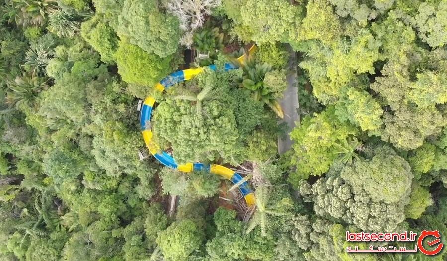 سرسره آبی 1140 متری در مالزی که رکورد شکسته است و بهزودی بازگشایی میشود