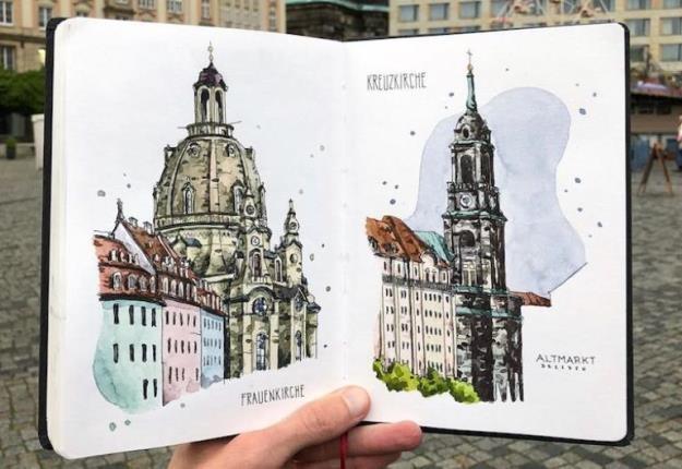 فضاهای شهری جذاب اروپا، اینبار در میان آثار یک هنرمند!
