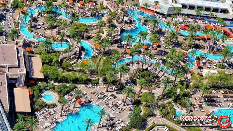 رودخانه بَکلات، مجموعه استخرهای بزرگ در اِم جی اِم گرند- لاس وگاس، نوادا (Backlot River, Grand Pool Complex at MGM Grand — Las Vegas, Nevada)