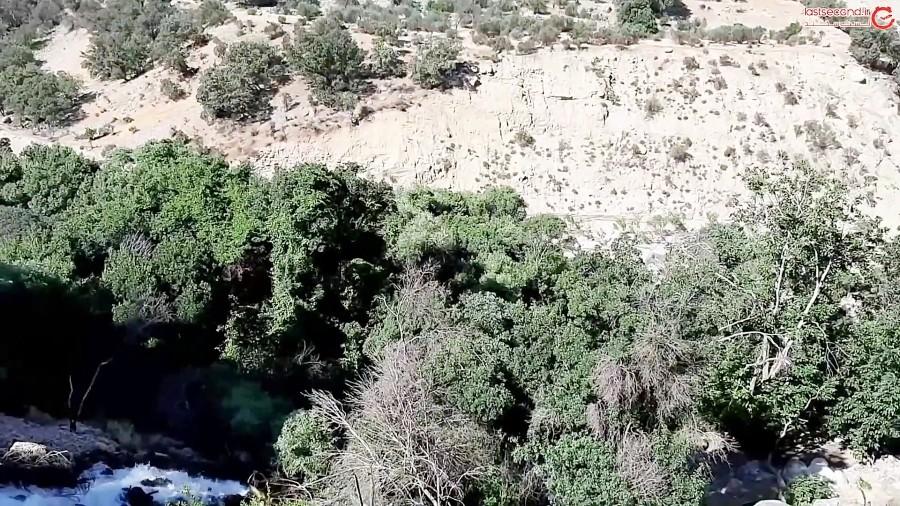آبشار دم اسب در دل کوهمره سرخی شیراز