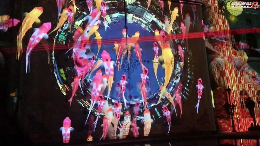 نورپردازی سه بعدی ژاپنی در کاخ گلستان