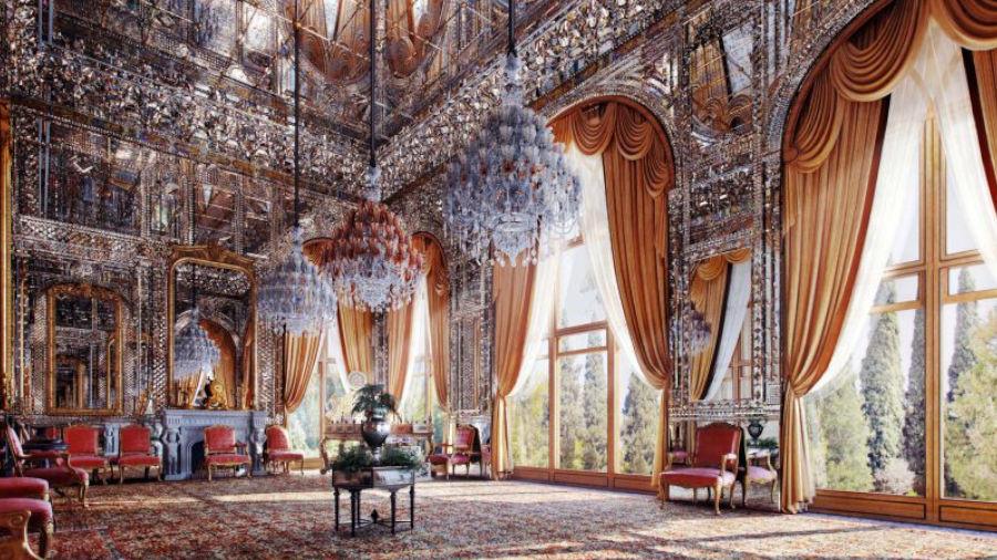 گلستان، کاخ کاشی و آینه