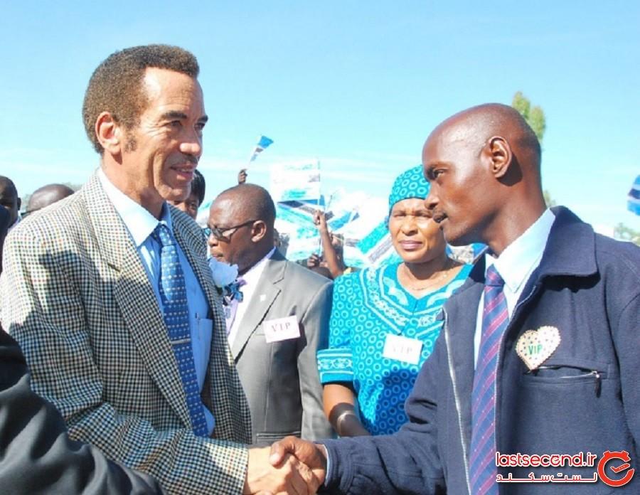 بوتسوانا: دست دادن