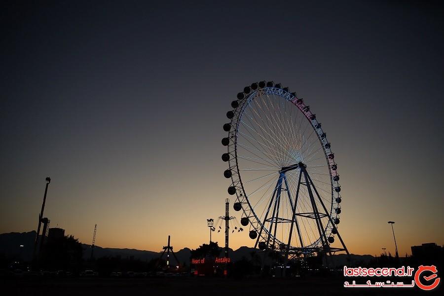 دومین چرخ و فلک بلند اروپا ملقب به قلب آنتالیا افتتاح شد