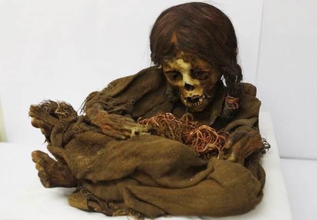 مومیایی عجیب دخترک 500 ساله اینکایی، به کشور بولیوی بازگشت!