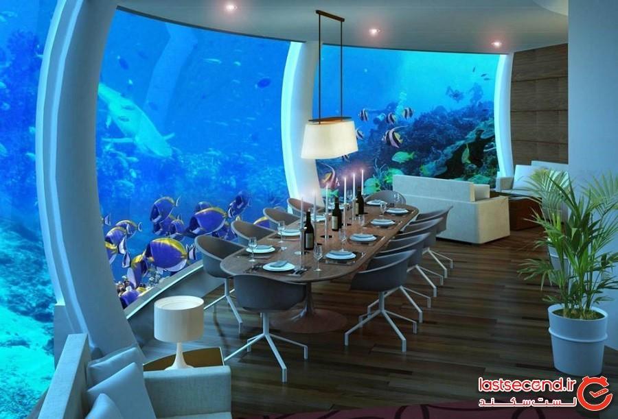 استراحتگاه زیرآبی خدای دریا در فیجی (Poseidon Undersea Resort in Fiji)