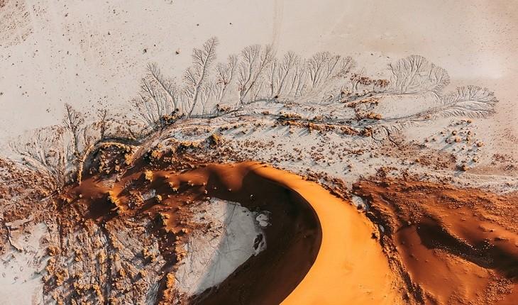 تپه های شنی صحرای نامیب یا آثار هنری انتزاعی؟