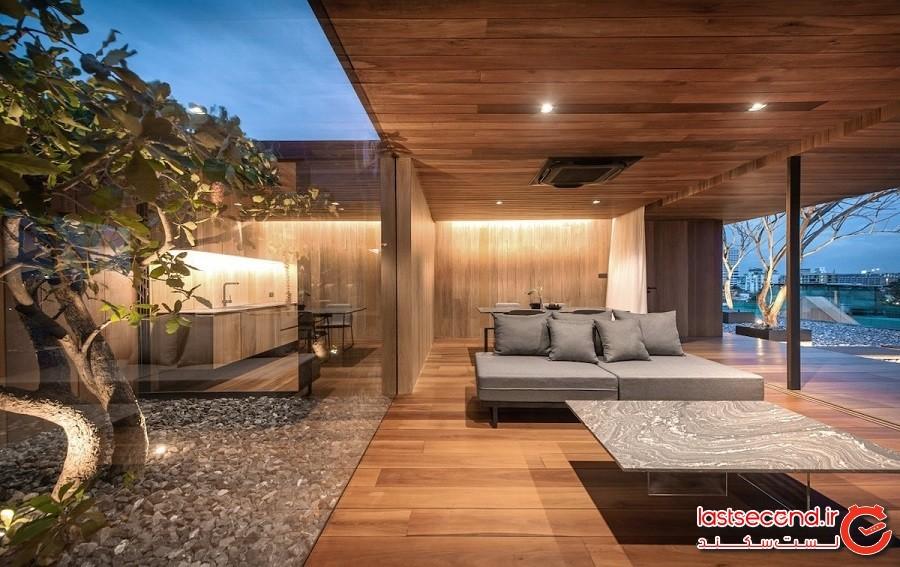 پشتبامی خالی که معماران آن را به یک خانه معاصر مرتفع تبدیل کردند