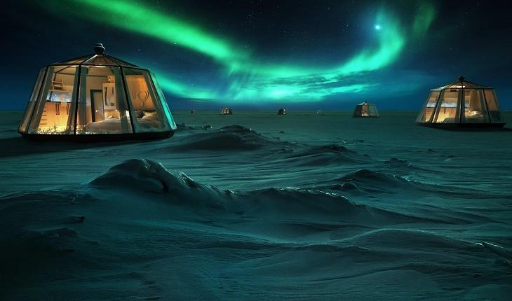 شمالی ترین و یکی از گران ترین هتل های جهان در قطب شمال افتتاح میشود!