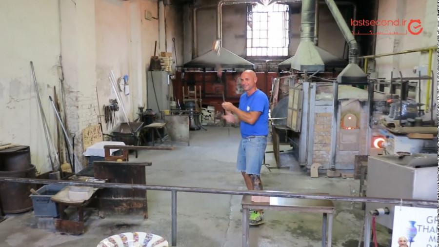 کارگاه شیشه گری در جزیره ی مورانو!