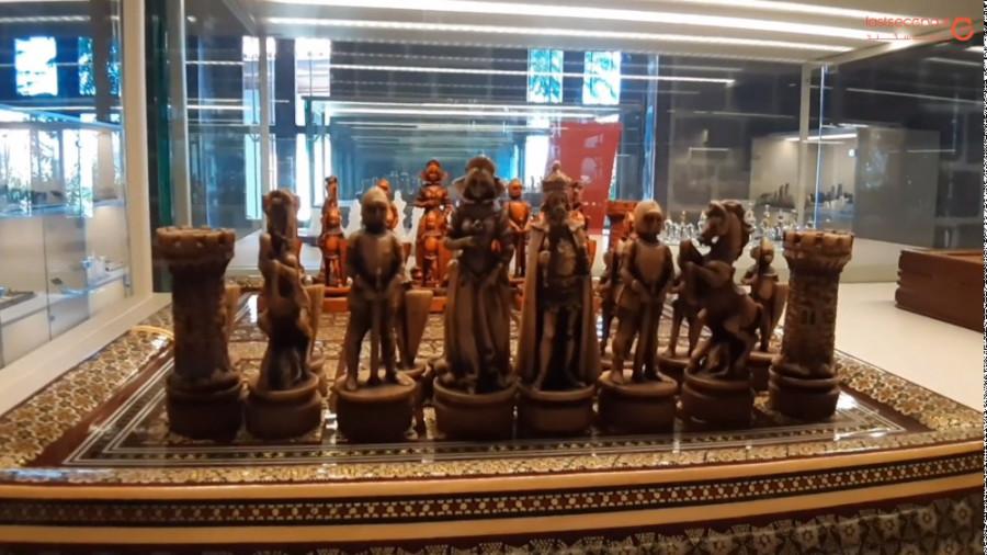شطرنج بازی هنرمندان در موزه شطرنج!