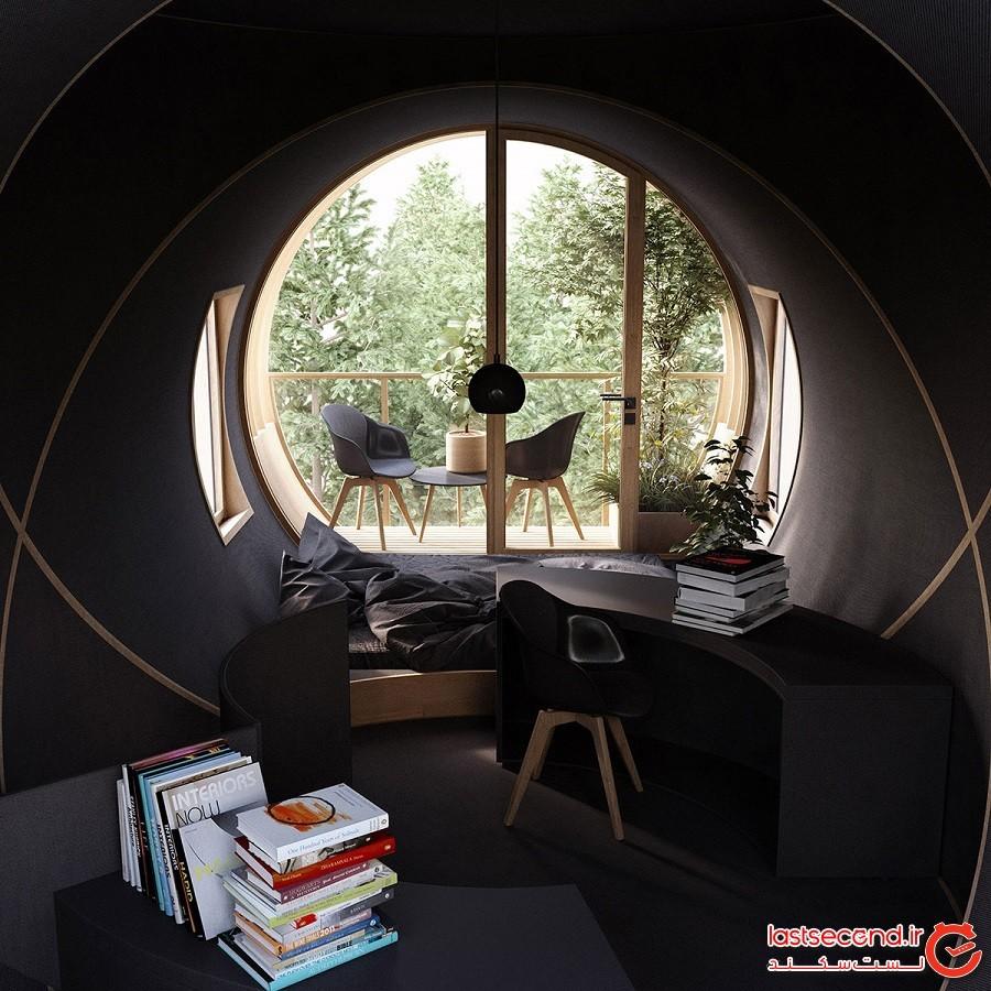 بِرت؛ مفهومی نو و جذاب با کمترین فضای عموی در طراحی خانه و خانه درختی!