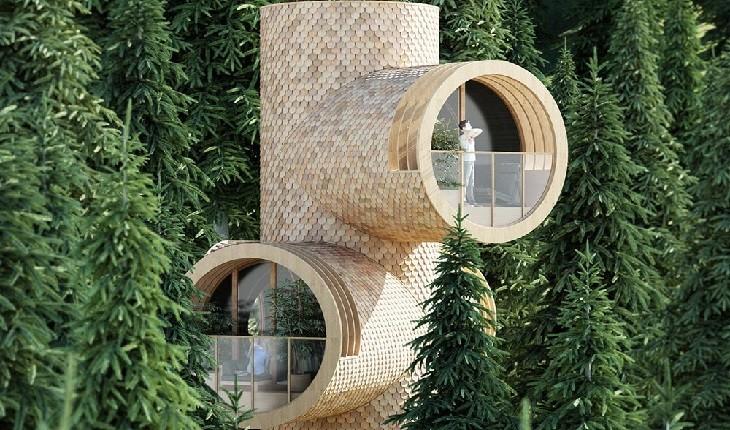 خانه درختی عجیب و مدرنی که در دل جنگل های اتریش ساخته شده!