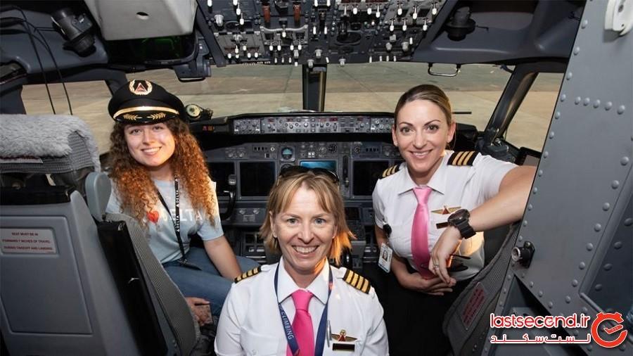 دختران جوان آمریکایی با پرواز کاملا زنانه دلتا به ناسا رفتند!
