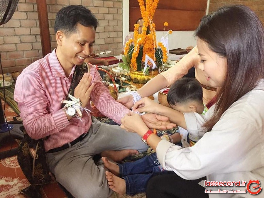 برگزاری مراسم چند هزار ساله باکی یا آرزوی خوشبختی در لائوس!