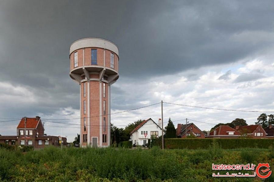 برج آب قدیمی که به خانهای مدرن تبدیلشده است، بلژیک